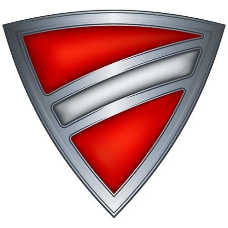 steel shield with flag latvia