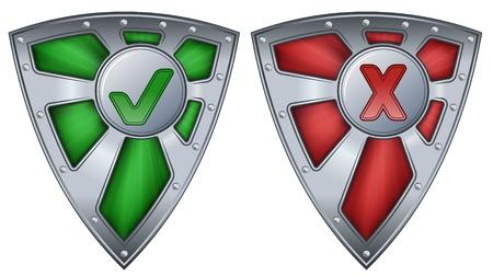 anti virus: shield security concept  Illustration