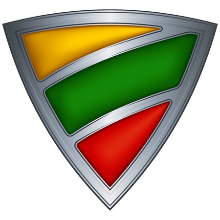 lithuania: Steel shield with flag Lithuania  Illustration