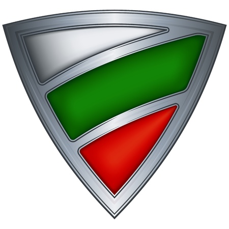 Steel shield with flag Bulgaria Vector