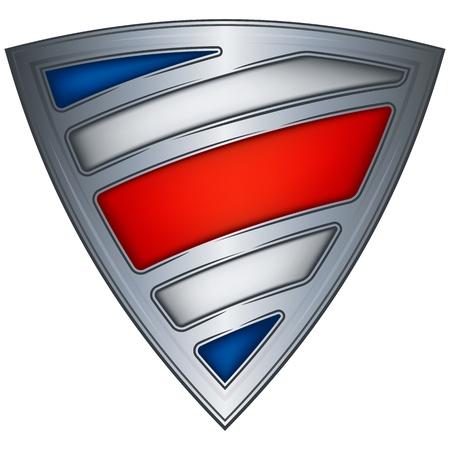 bandera de costa rica: acero escudo con la bandera de Costa Rica