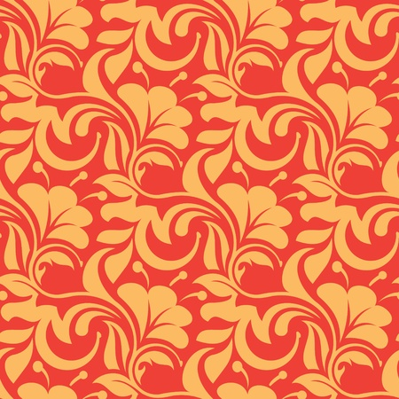 red seamless wallpaper pattern Stock Vector - 10945578