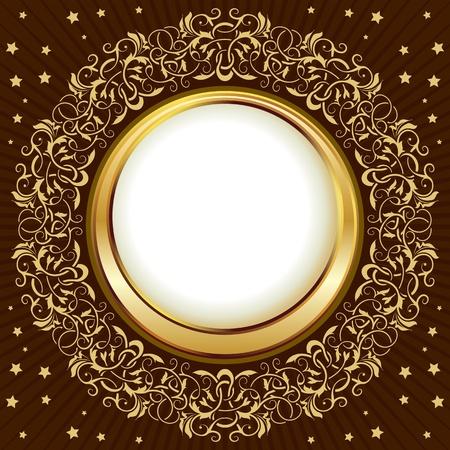 gold vintage frame Stock Vector - 11026623