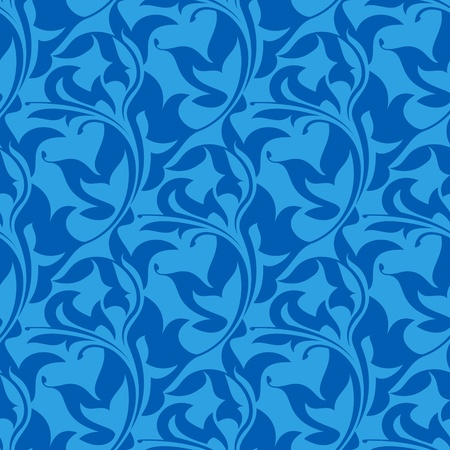 blue seamless wallpaper pattern  Vector