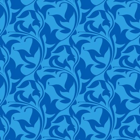 blue seamless wallpaper pattern  Vector