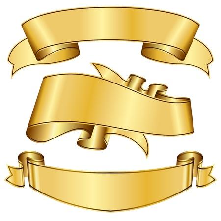 banner orizzontali: oro nastro collezione