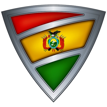 steel shield with flag bolivia Stock Vector - 11097614