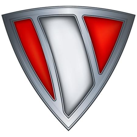 bandera de peru: acero escudo con la bandera de Perú
