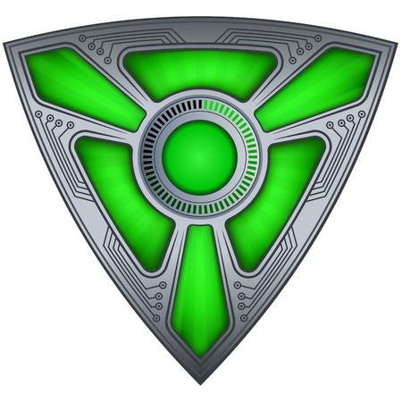 Fiction shield Vector