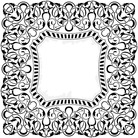 Black frame with ornamental border  Stock Vector - 11097626