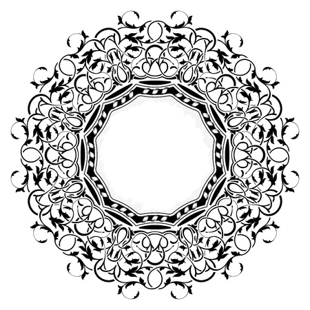 black frame with ornamental border  Stock Vector - 11235142