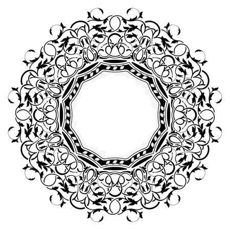 black frame with ornamental border Stock Vector - 11235142