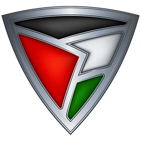 jordan: steel shield with flag jordan