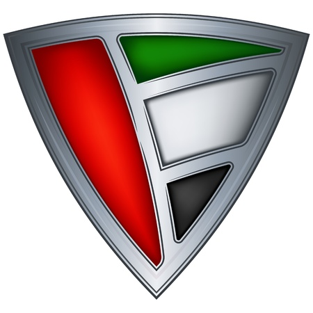 steel shield with flag united arab emirates  Vector