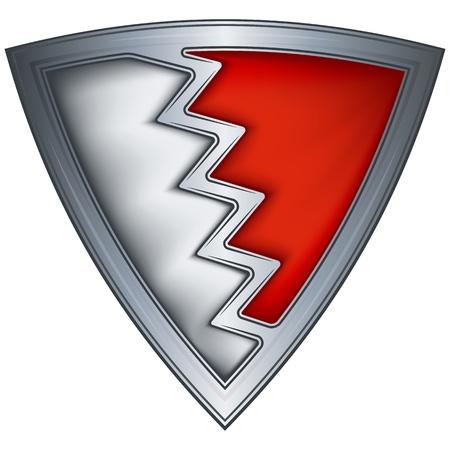 steel shield with flag bahrain Stock Vector - 11235163