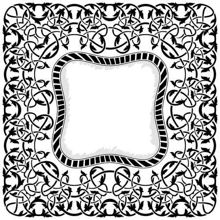 Black frame with ornamental border Stock Vector - 11375717