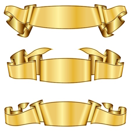 Gold ribbon collection  Stock Vector - 11375706