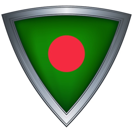 bangladesh: steel shield with flag bangladesh