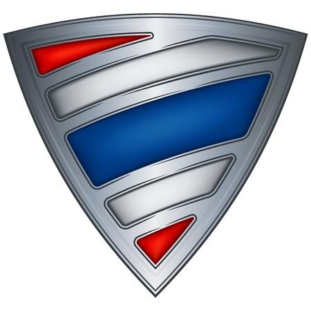 thai flag: steel shield with flag thailand