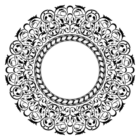 black frame with ornamental border  Stock Vector - 11375769
