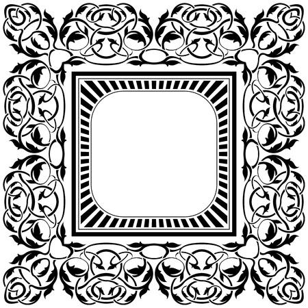 Black frame with ornamental border Stock Vector - 11375748