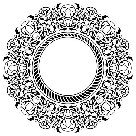 bordure floral: Cadre noir avec bordure ornementale