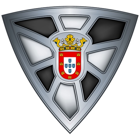 Steel shield with flag Ceuta  Vector