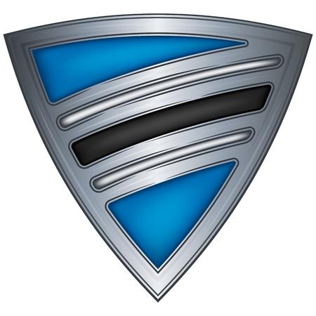 botswana: Steel shield with flag Botswana