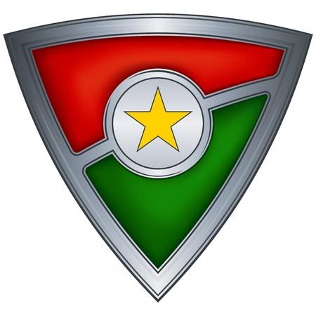 burkina faso: Steel shield with flag Burkina Faso Illustration