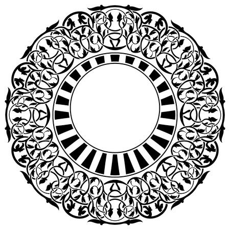 Black frame with ornamental border Stock Vector - 11493616