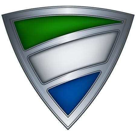 Steel shield with flag Sierra Leone Stock Vector - 11493618