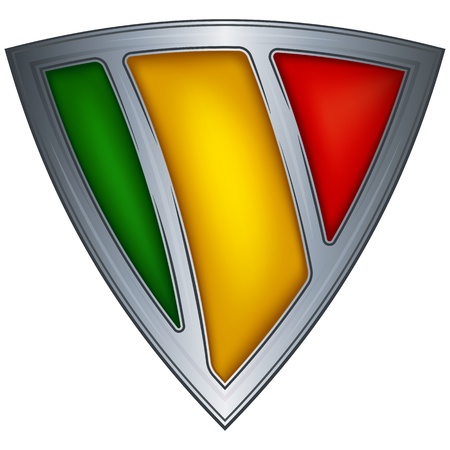 mali: Steel shield with flag Mali