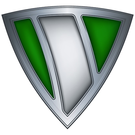 country nigeria: Steel shield with flag Nigeria