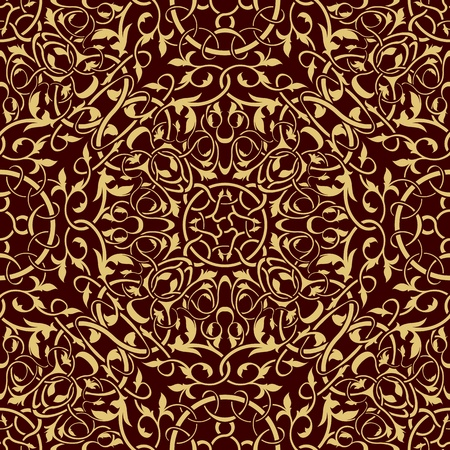 Gold seamless wallpaper pattern Stock Vector - 11664295