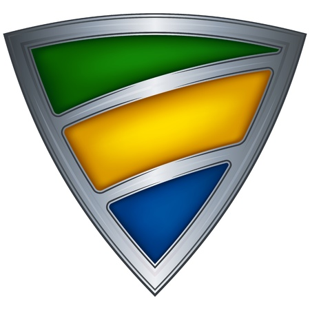 gabon: Steel shield with flag Gabon Illustration