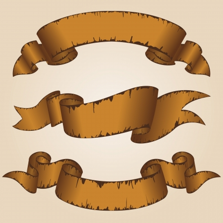 ribbons: Old ribbon collection  Illustration