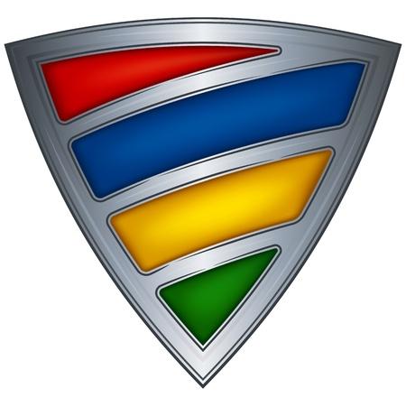 mauritius: Steel shield with flag Mauritius  Illustration