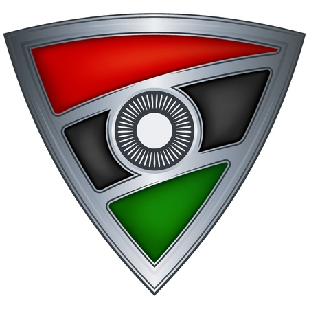 Steel shield with flag Malawi  Vector