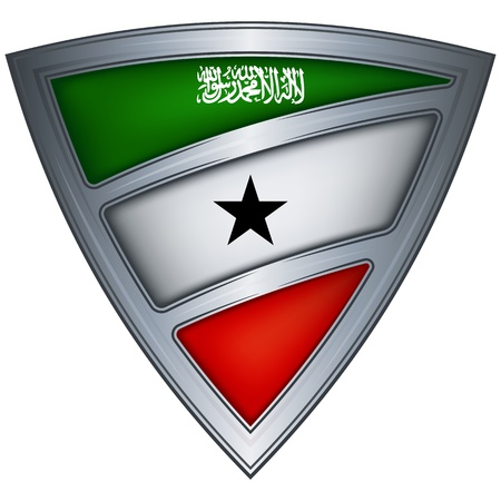 Steel shield with flag Somaliland  Vector