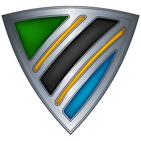 Steel shield with flag Tanzania  Vector