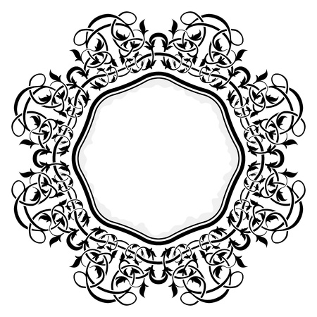 Black frame with ornamental border Stock Vector - 12128362