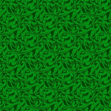 Green seamless wallpaper pattern  Vector