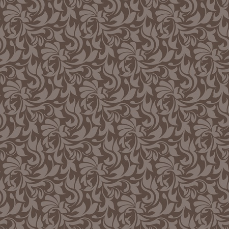 Brown seamless wallpaper pattern. Simply drop swatch into swatch palette to create the fill. Vector