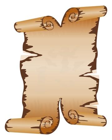 roztrhaný: Starý špinavý rukopis s scroll zbarvily