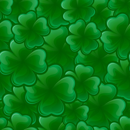 four texture: Seamless pattern from clover for St. Patrick