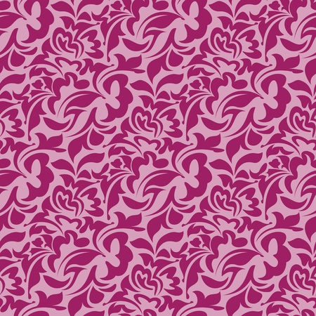retro seamless pattern: Red seamless wallpaper pattern