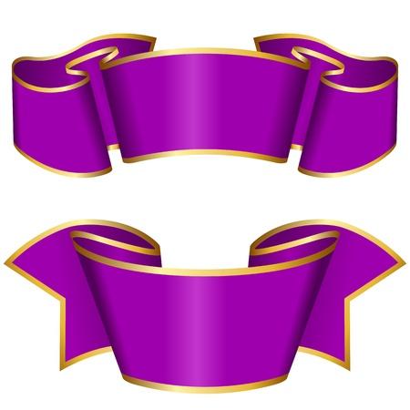 Purple ribbon collection  Illustration
