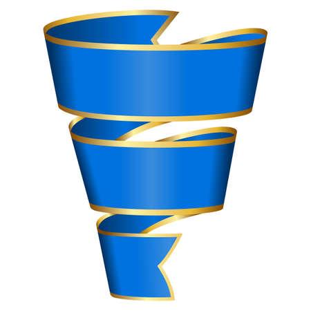 Blue ribbon Stock Vector - 12495331