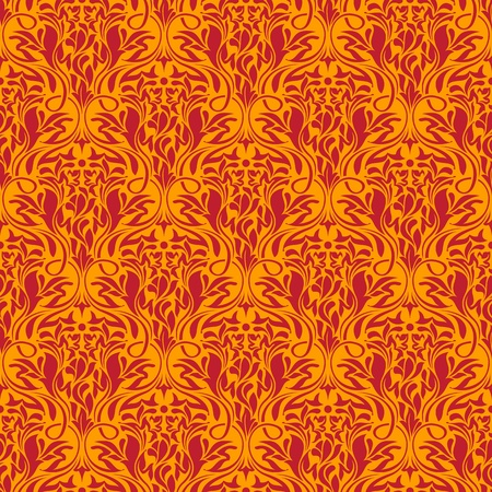 Red seamless wallpaper pattern Stock Vector - 12495335