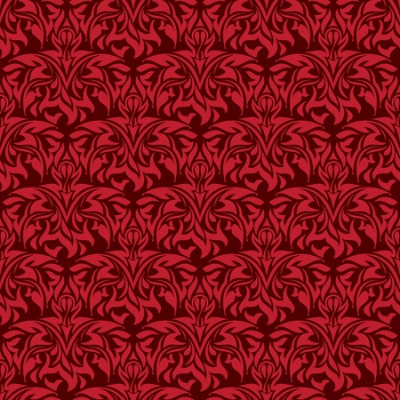 Red seamless wallpaper pattern Stock Vector - 12724200
